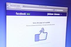 Facebook main webpage Royalty Free Stock Image