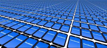 Facebook, Many, F, Panels, System Stock Photos