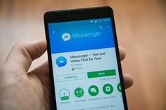 Free Facebook Messenger Application In Google Play Store Stock Images - 103340934