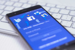 Facebook mobile application Royalty Free Stock Photo