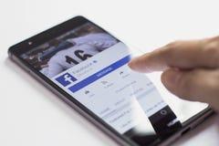 Facebook mobile application Stock Image