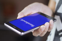 Facebook mobile application Royalty Free Stock Images