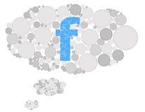 Facebook myślący spech royalty ilustracja
