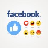 Facebook neu wie Knöpfe Stockbild