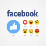 Facebook new like buttons. Stock Image