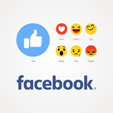 Facebook new like buttons. Royalty Free Stock Photography
