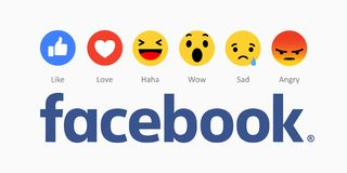 Facebook new like buttons icons. Stock Photo