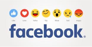 Facebook nieuw als knopen Stock Foto's