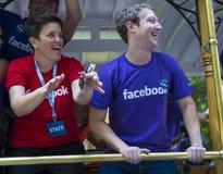 Facebook no orgulho alegre de San Francisco Imagens de Stock Royalty Free