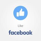 Facebook novo como o botão ilustração stock