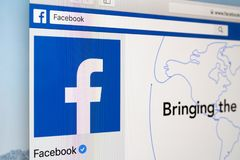 Facebook on Facebook royalty free stock images