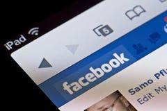 Facebook On Apple IPad Stock Photos