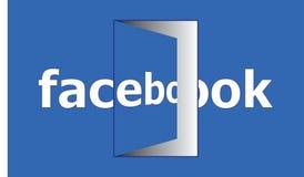 Facebook Open Door - Social Media Facebook Open For Every One stock illustration