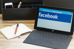 Facebook page stock photography