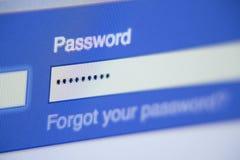 Facebook Password Box Close-up - Security Protection stock photo