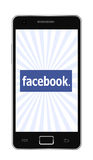 Facebook phone Royalty Free Stock Photos