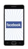 Facebook phone royalty free stock photos