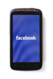 Facebook phone royalty free stock image