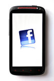 Facebook phone Stock Images