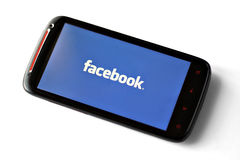 Facebook phone royalty free stock photo