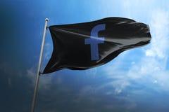 Facebook photorealistic flag editorial stock photos