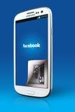 Facebook-pictogram op smartphone Stock Fotografie