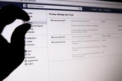 Facebook privacy Stock Photos