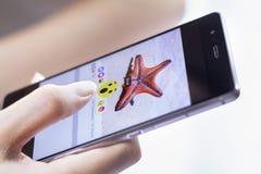 Facebook promocje pięć nowych reakcj guzików Obraz Stock