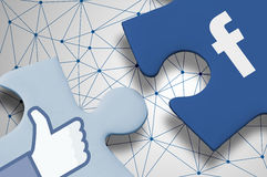 Facebook Puzzle Royalty Free Stock Photos