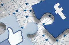 Facebook-Puzzlespiel Lizenzfreies Stockfoto