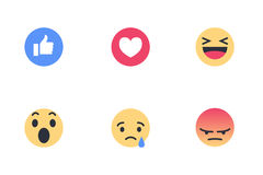 Facebook reactions Stock Photo