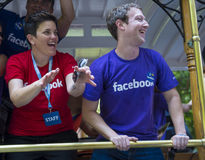 Facebook in San Francisco gay pride Royalty Free Stock Images