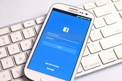 Facebook screen Stock Photos