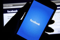 Facebook screen Royalty Free Stock Images