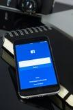 Facebook-Seite Lizenzfreie Stockbilder