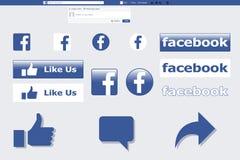 Facebook Editable Vector eps Stock Photo