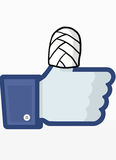 Facebook-Sicherheit lizenzfreie abbildung