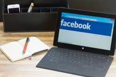 Facebook sida Arkivbild