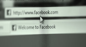 Facebook site Stock Images