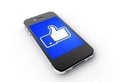 Facebook Smartphone Royalty Free Stock Photo