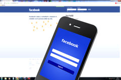 Facebook Smartphone Royalty Free Stock Images
