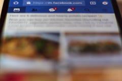 Facebook, social media app on smartphone