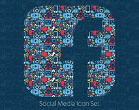 Facebook Social Media Icons Royalty Free Stock Image