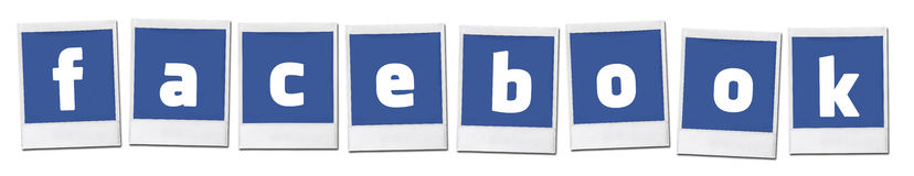 Facebook Social Media Sharing Stock Photo