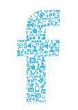 Facebook Social Network icons Royalty Free Stock Photography
