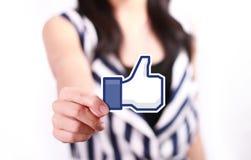 Facebook som knappen Arkivbild
