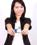 Facebook som knappen Royaltyfri Bild