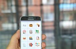 Facebook Stickered app 免版税库存图片