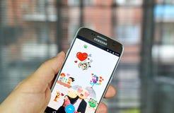 Facebook Stickered app Foto de Stock