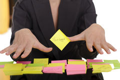Facebook on sticky note Stock Image